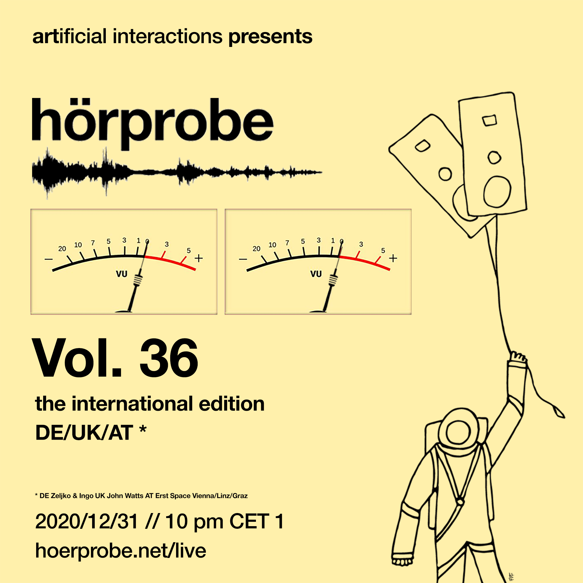 hörprobe Vol. 36 - the official home of hörprobe flyer